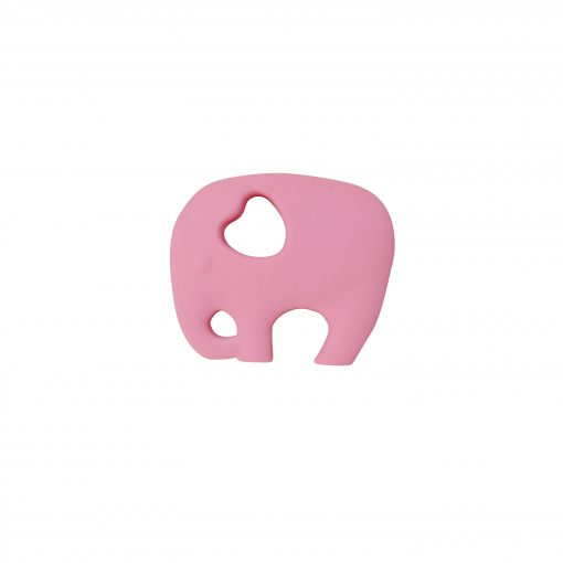 Elephant Teether – Rose Quartz