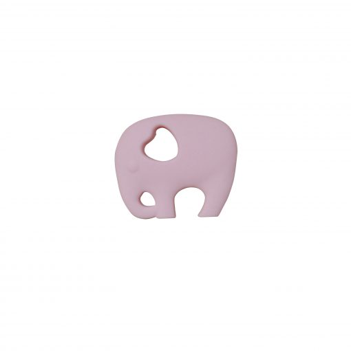 Elephant Teether – Light Pink